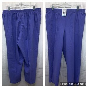 Alfred Dunner Purple Pants Plus Size 20